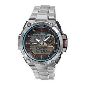 Relógio Condor Masculino Neon Co1161a/3k - Prata 100 Metros