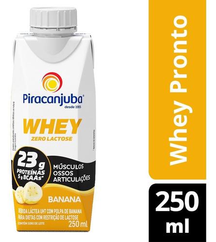 Piracanjuba Whey Zero Lactose Pronto Sabor Banana 250ml