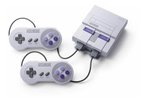 Nintendo Super NES Classic Edition 512MB color  gris y violeta
