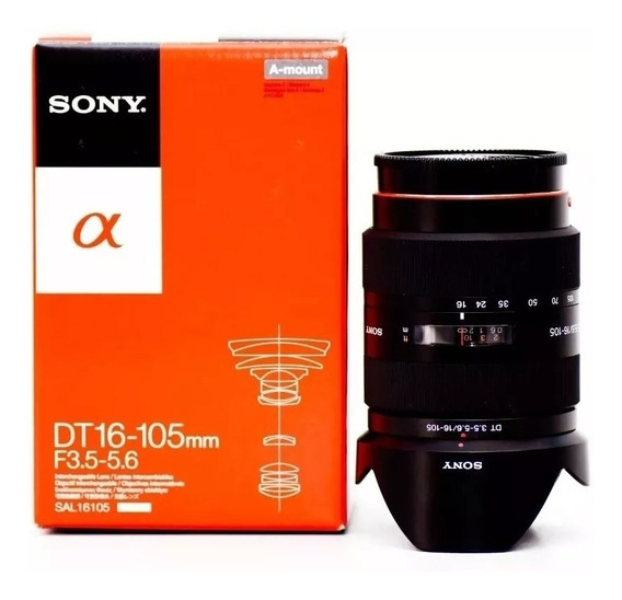 Lente Sony Dt 16-105 Mm F/3.5-5.6 Sal 16105 A-mount - Novo.
