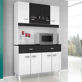 Cozinha Compacta 8 Portas E 2 Gavetas Manu - Poquema