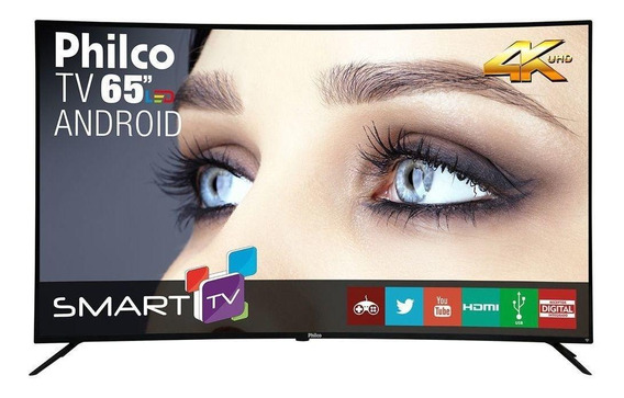 Smart TV Philco PTV65A16SA LED curvo 4K 65""