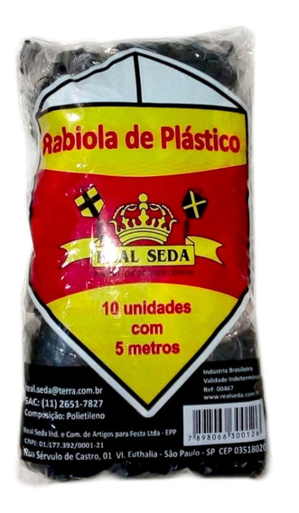 Rabiolas De Plástico 5 Mts Pacote Com 10 Unidades