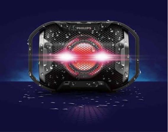 Caixa De Som Philips Sb300 Prova D Água Bluetooth Portátil