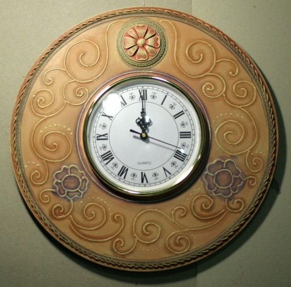 Reloj Con Marco Artesanal. Hecho A Mano. 35 Cm