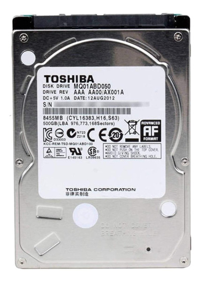 Disco rígido interno Toshiba MQ01ABD Series MQ01ABD050 500GB