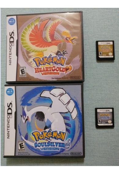 Pokémon Heart Gold + Pokémon Soul Silver Originais Na Caixa