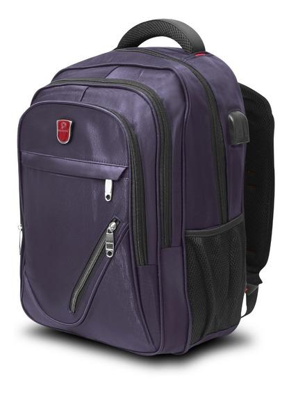 Backpack Ejecutiva Para Laptop Mc.carthy Mod. Mc19-7 Morado