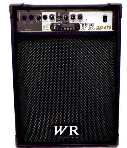 Caixa De Som Amplificada Bluet Microfone/guitarra/violão 60w