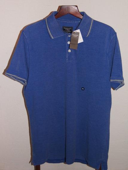 Abercrombie & Fitch Playera Polo Talla Xxl Color Azul