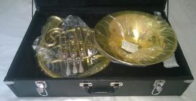 Trompa Blaver Dupla Afinação Fá / Sib + Estojo Luxo E Bocal