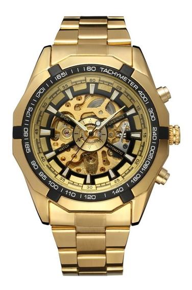 Relógio Automático Cor De Ouro Marca De Luxo