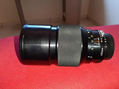 Lente Nikon Soligor 200mm F 2.8 Ais