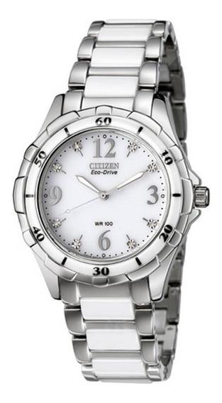 Relógio Feminino Citizen Em0030-59a Cerâmica, Aço Inoxidável