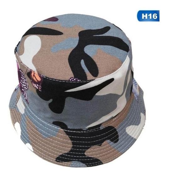 Boné Chapéu Bucket Hat Branco Floral Margarida Diversas Estampas Cores Verao Novidade Moda