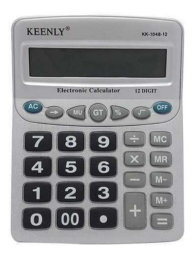 Calculadora 12 Dígitos Eletrônica Keenly Kk-1048-12 Promoção