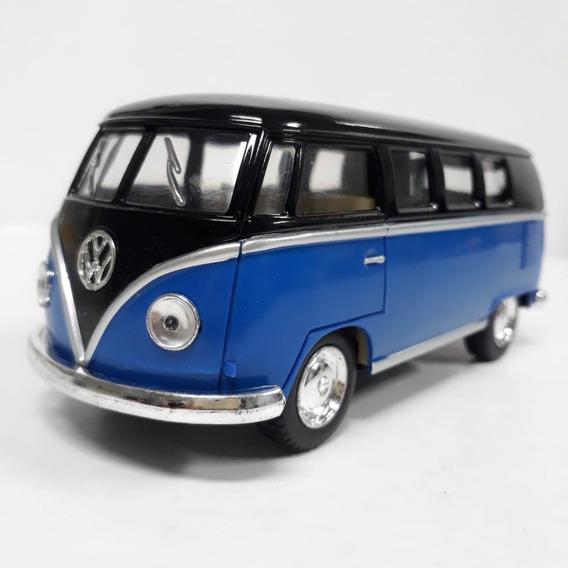 Kombi Classical Bus 1962 Escala 1/32 Cor Azul E Preto