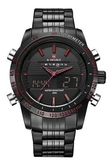 Relógio Masculino Naviforce Nf 9024 Esportivo Racer Preto