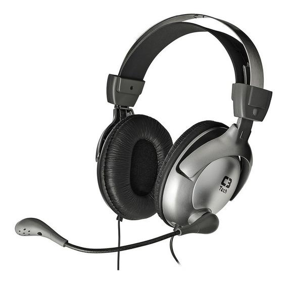 Fone De Ouvido C3 Tech Headphone Gamer Mi2870rs Raptor Cinza