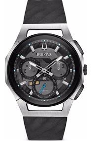 Relógio Bulova Curvo Curv Black 98a161 Cronografo Lançamento