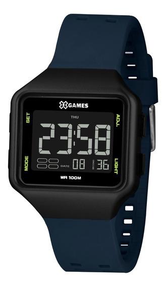 Relógio X-games Masculino Digital Xgppd154 Pxdx Preto Azul