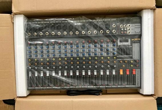 Mesa Som 16 Canais Stereo Mix Ksr Kt-m1602