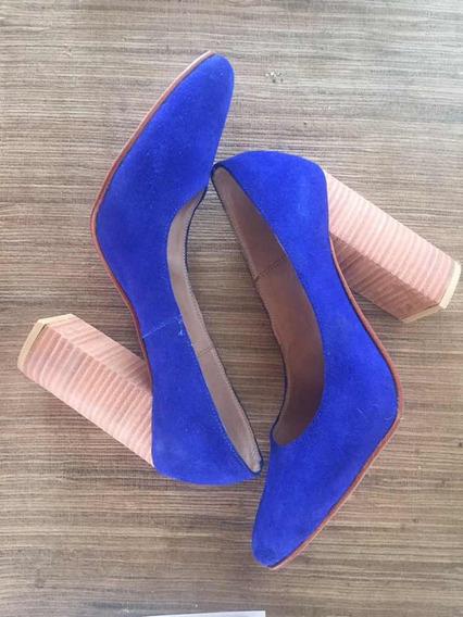 Stilettos Azul Pana Hermosos