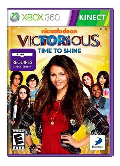 Victorious Time To Shine Xbox 360 Mídia Física Novo Lacrado