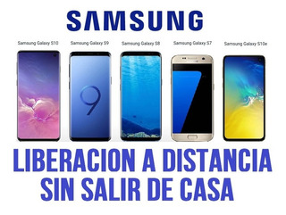 Desbloqueo Regional Samsung S6 S7 S8 S9 Europa Chile