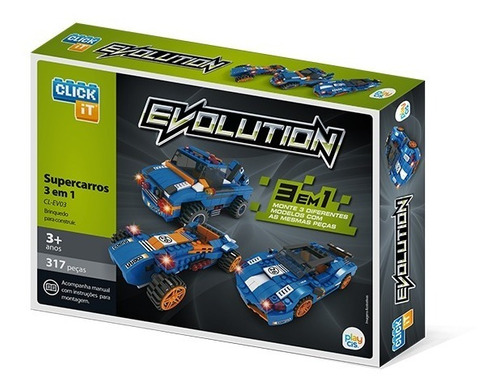 Bloco De Montar Click It Cis Evolution 3 Em 1 Construcars