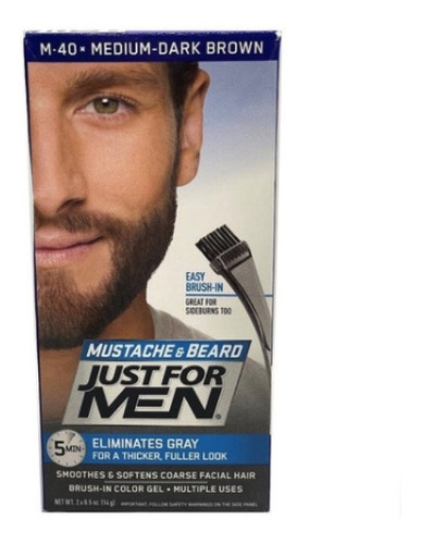 Tinte Barba Y Bigote Just For Men M-40 Castaño Oscuro Medio