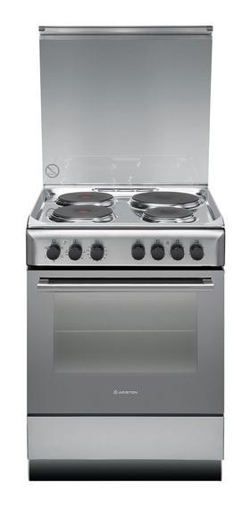 Cocina Eléctrica Ariston A6esc2f X 60 Cm Grill 4 Hornallas