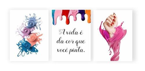 Imagem 1 de 2 de Plaquinha Placa Quadro Mdf 20x30cm Manicure Esmalte Salão