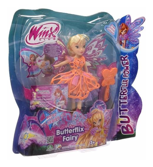 Boneca Winx Club - Butterflix Fairy Stella 30 Cm - Wxbf0001
