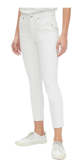 Jeans Dama Pantalón Mezclilla Mujer Blanco Skinny 440754 Gap