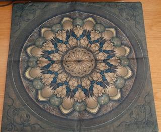 Funda Para Zafú De Yoga O Cojín Decorativo Con Mandalas