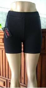 Kit Com 2 Shorts Curtos Pretos De Cotton Cintura Alta