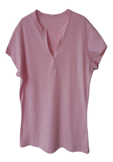 Playera Para Dama Tipo Polo En Pique Color Rosa