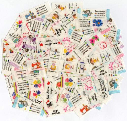 150 Etiquetas Algodão Natural Personalizadas 5x2 Ou 3,8x2,5.