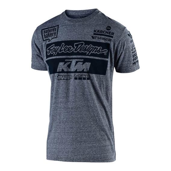 Remera Ktm Troy Lee Designs Oficial Team Usa Gris 2018