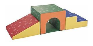 Ecr4kids Escalador De Juguete Individual De Espuma Con Tunel