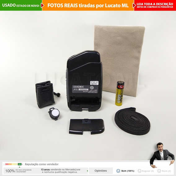 Fotômetro Flashmate Sekonic L308s + Lumidisc + Pilha Aa | 2b