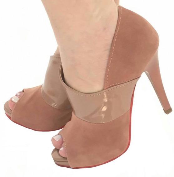 10% Off Ankle Boot Camurca Trend Sela / Verniz Anzelli Pele