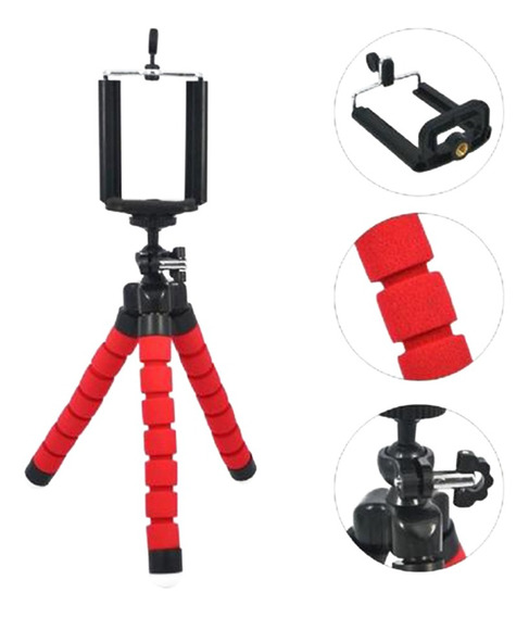 Mini Tripe Ajustavel Celular Suporte Smartphone Camera Inova