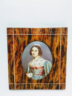 Retrato Miniatura Siglo 19 / Pintura Arte Coleccion - 317