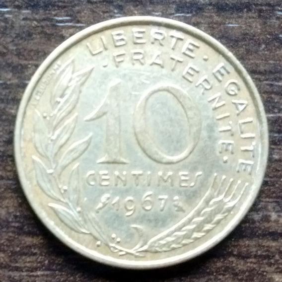 Moneda 10 Céntimos Francia 1967 Muy Buena