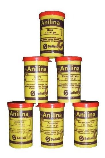 Anilina 25 Gramas Salisil (caixa Com 06 Potes)