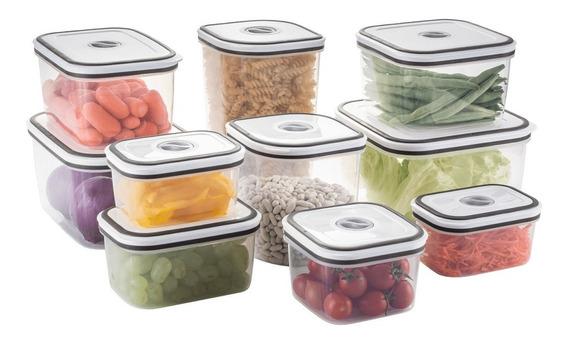 10 Potes Electrolux Herméticos Para Freezer E Microondas
