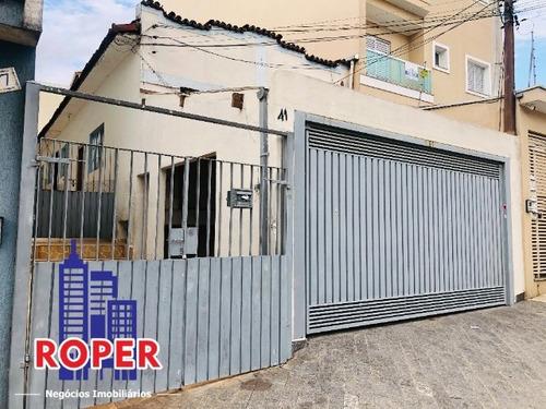 Imagem 1 de 20 de Oportunidade Para Construtores, Terreno Com Casa De 7 X 30 À Venda Na Vila Camilopólis, Santo Andre. - Ca00259 - 69324744