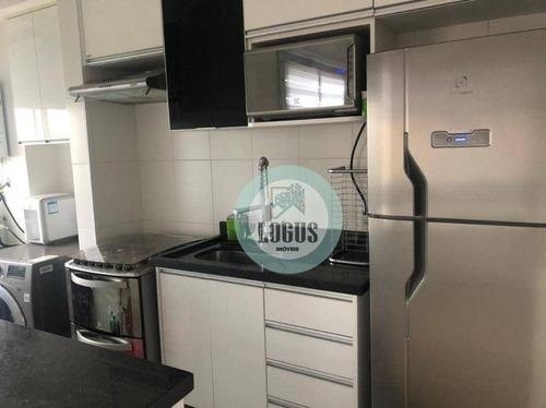 Imagem 1 de 14 de Apartamento Com 2 Dormitórios À Venda, 44 M² Por R$ 250.000,00 - Canhema - Diadema/sp - Ap1780